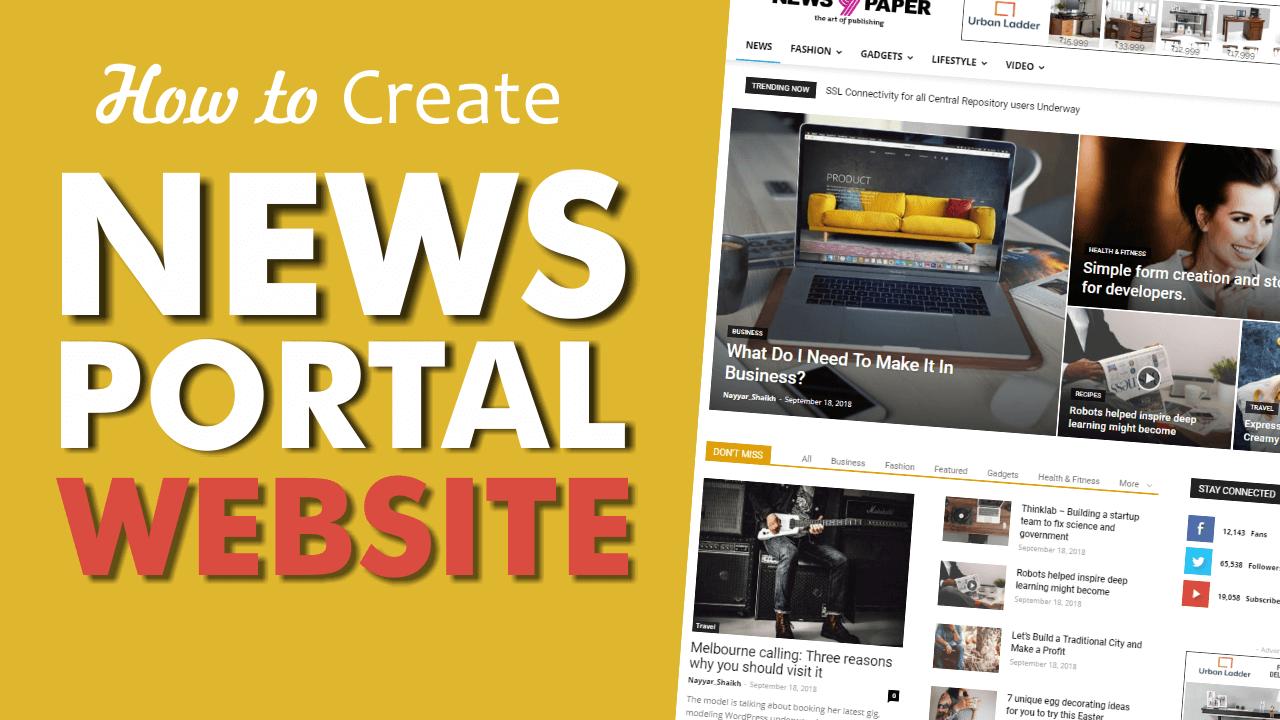 How to Make a News Portal, Magazine & Blog Website with WordPress 2018 – Newspaper Theme