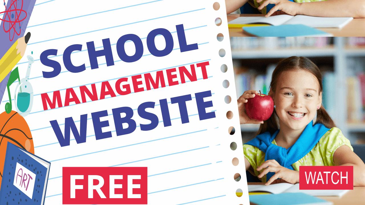 FREE School Management WordPress Website Tutorial – Attendance, Results, Timetable, Notifications WPSchoolPress 2018